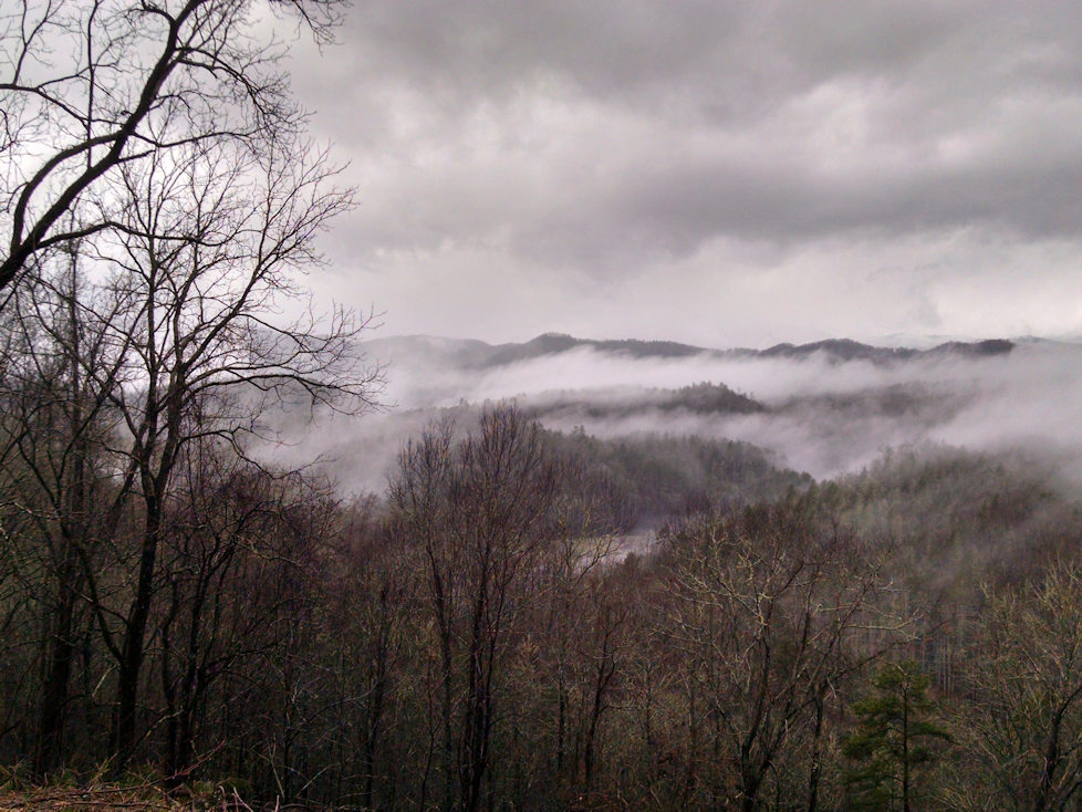 Smoky Mountain Land Surveying View from Our Office - Franklin, NC